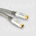 Videk Mini 4 Din M to Mini 4 Din M Gold SVHS Video Cable 3m 3m S-Video (4-pin) S-Video (4-pin) S-video cable