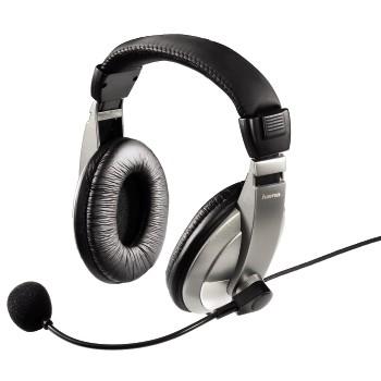 Hama AH-100 Binaural Head-band Black,Silver headset