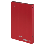 "Lian Li EX-10QR 2.5"" USB powered Red HDD/SSD enclosure"