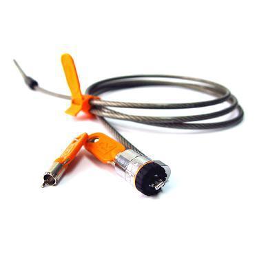 DELL 461-10054 Round key Orange,Silver cable lock
