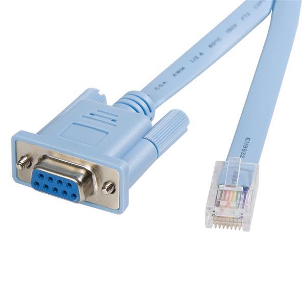 StarTech.com Cable 1,8m para Gestión de Router Consola Cisco RJ45 a Serie DB9 - Rollover - Macho a Hembra