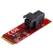 "StarTech.com U.2 (SFF-8643) to M.2 PCI Express 3.0 x4 Host Adapter Card for 2.5"" U.2 NVMe SSD"