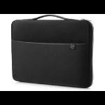 "HP 3XD36AA 15.6"" Sleeve case Black, Silver"