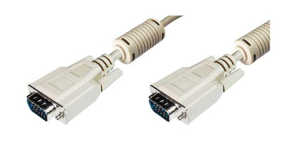 Digitus VGA 15.0m VGA cable 15 m VGA (D-Sub) Beige