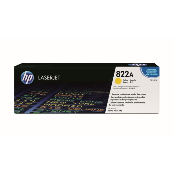 HP C8552A (822A) Toner yellow, 25K pages @ 5% coverage