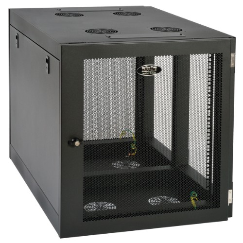 Tripp Lite SmartRack 12U Heavy-Duty Low-Profile Server-Depth Side-Mount Wall-Mount Rack Enclosure Cabinet