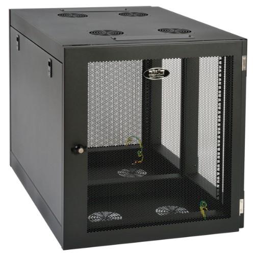 Tripp Lite SmartRack 12U Heavy-Duty Low-Profile Server-Depth Side-Mount Wall-Mount Rack Enclosure Cabinet