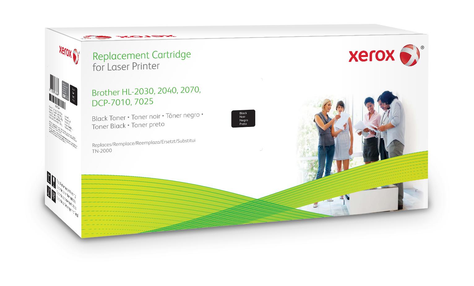 Xerox Cartucho De Tóner Negro. Equivalente A Brother Tn2000