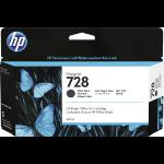 HP 3WX25A (728) Ink cartridge black matt, 130ml