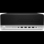 HP ProDesk 600 G4 DDR4-SDRAM i5-8500 SFF 8th gen Intel® Core™ i5 8 GB 256 GB SSD Windows 10 Pro PC Black, Silver