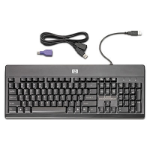 HP USB PS2 Washable Keyboard USB+PS/2 Black keyboard