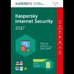 Kaspersky Lab Internet Security 2017 1user(s) 1year(s) German