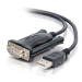 C2G 86887 adaptador de cable USB-A DB9 Negro