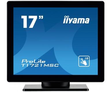 "iiyama ProLite T1721MSC-B1 touch screen monitor 43.2 cm (17"") 1280 x 1024 pixels Multi-touch Tabletop Black"