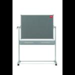 Nobo Mobile Combination Board Magnetic Steel Whiteboard/Grey Felt Noticeboard Horizontal Pivot 1200x900mm