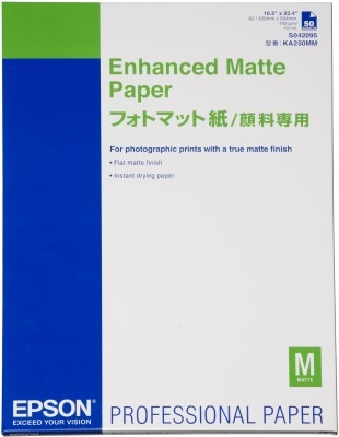 Epson Enhanced Matte Paper, DIN A2, 192g/m², 50 Sheets C13S042095