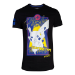 Pokémon Pikachu Electric Type City T-Shirt, Male, Medium, Black (TS848407POK-M)
