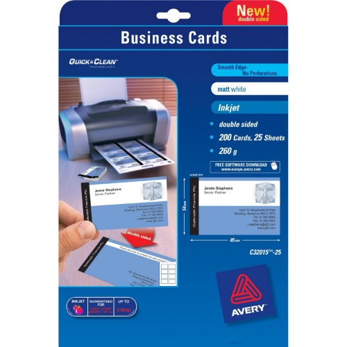 Avery Quick&Clean 85 x 54 mm (x25) business card 200 pc(s)