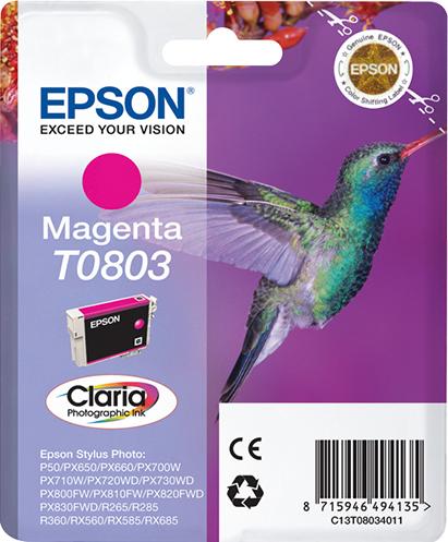Epson Hummingbird Cartucho T0803 magenta