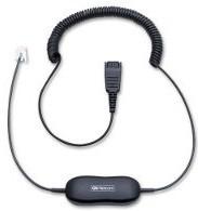 Jabra 88001-04 telephony cable 0.8 m Transparent,Black