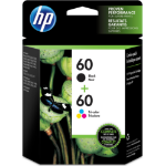 HP 60 2-pack Black/Tri-color Original Ink Cartridges