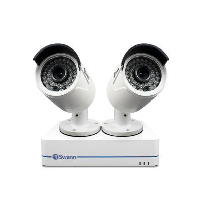 Swann NVR4-7285 4 Channel 1TB 1080p Network CCTV Recorder 2x NHD-810 HD Cameras