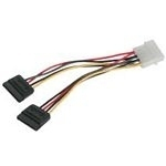C2G SATA Power Adapter Cable Black SATA cable