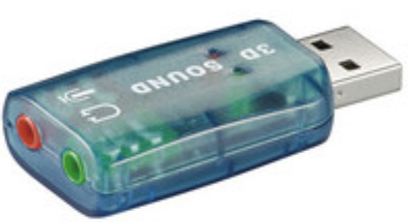 Microconnect 68878 2.0channels USB audio card