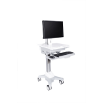 Multibrackets 7350073730773 Multimedia cart Silver,White multimedia cart/stand