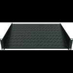 """Intellinet 19"""" Cantilever Shelf, 1U, 2-Point Front Mount, 150mm Depth, Black"""