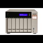 QNAP TVS-673e RX-421BD Ethernet LAN Tower Black, Bronze NAS