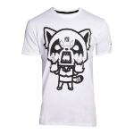 AGGRETSUKO Retsuko Rage I Wanna Eat T-Shirt, Male, Extra Large, White (TS681604AGG-XL)