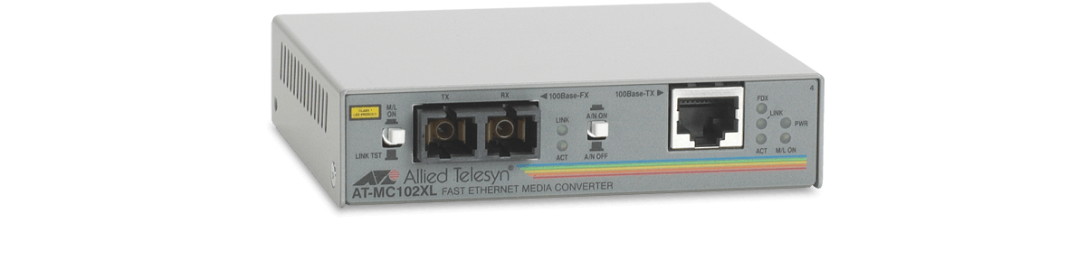 Allied Telesis 100TX to 100FX (SC) media converter 100Mbit/s 1310nm network media converter