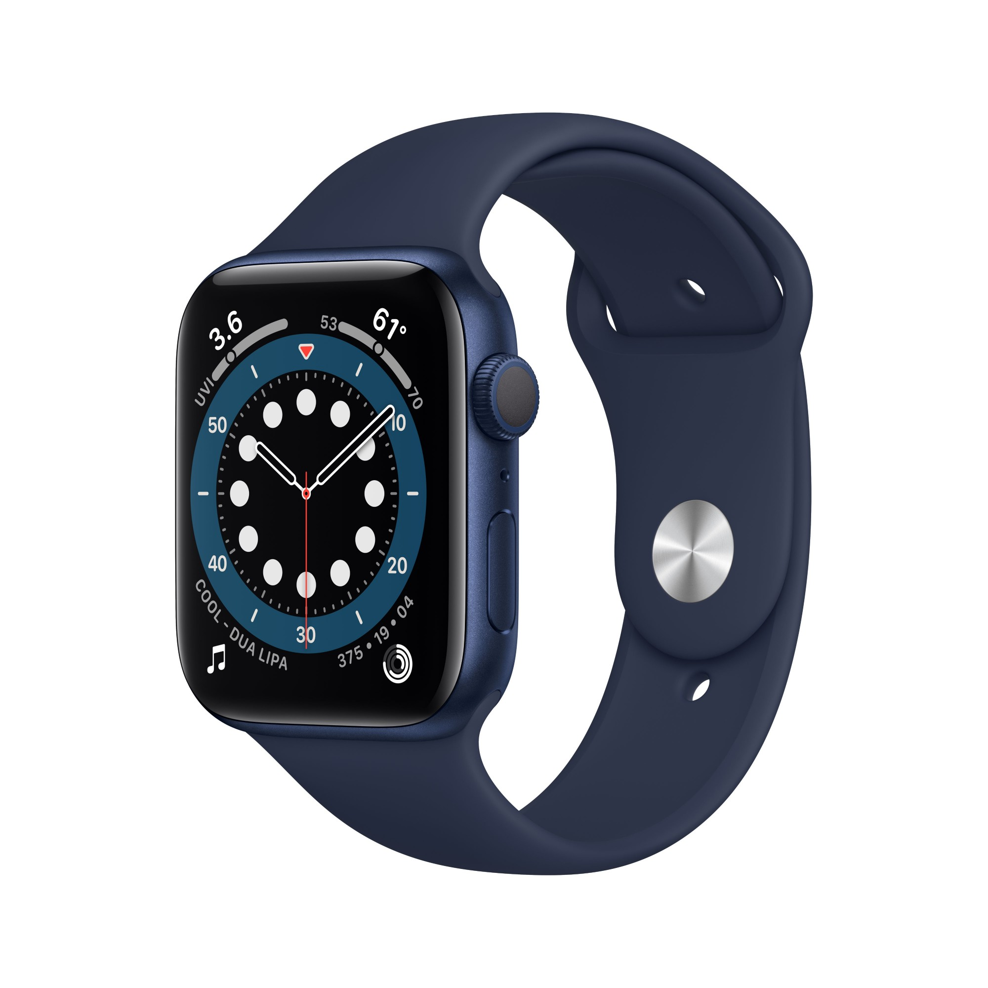Apple Watch Series 6 OLED 44 mm Azul GPS (satélite)