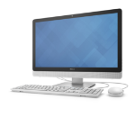 "DELL Inspiron 3452 1.6GHz N3700 23.8"" 1920 x 1080pixels Touchscreen Black,White All-in-One PC"