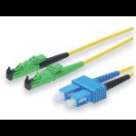 ASSMANN Electronic 3m E2000 (APC) - LC Singlemode LSOH 3m E-2000 (APC) LC Geel Glasvezel kabel