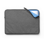 "eSTUFF ES82251-TWILL 15.4"" Sleeve case Black,Grey notebook case"