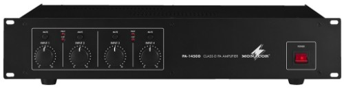 Monacor PA-1450D audio amplifier 4.0 channels Performance/stage Black