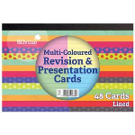 Silvine Revision and Presentation Cards Assorted PK48