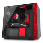 NZXT H200i Mini-Tower Black, Red computer case
