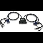 Manhattan 2-Port Mini KVM Switch, 2-Port USB, Audio Support