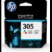HP 305 Original Cian, Magenta, Amarillo 1 pieza(s) Rendimiento estándar