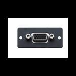 Kramer Electronics Wall Plate Insert − 15−pin HD (F/F) caja de tomacorriente Negro