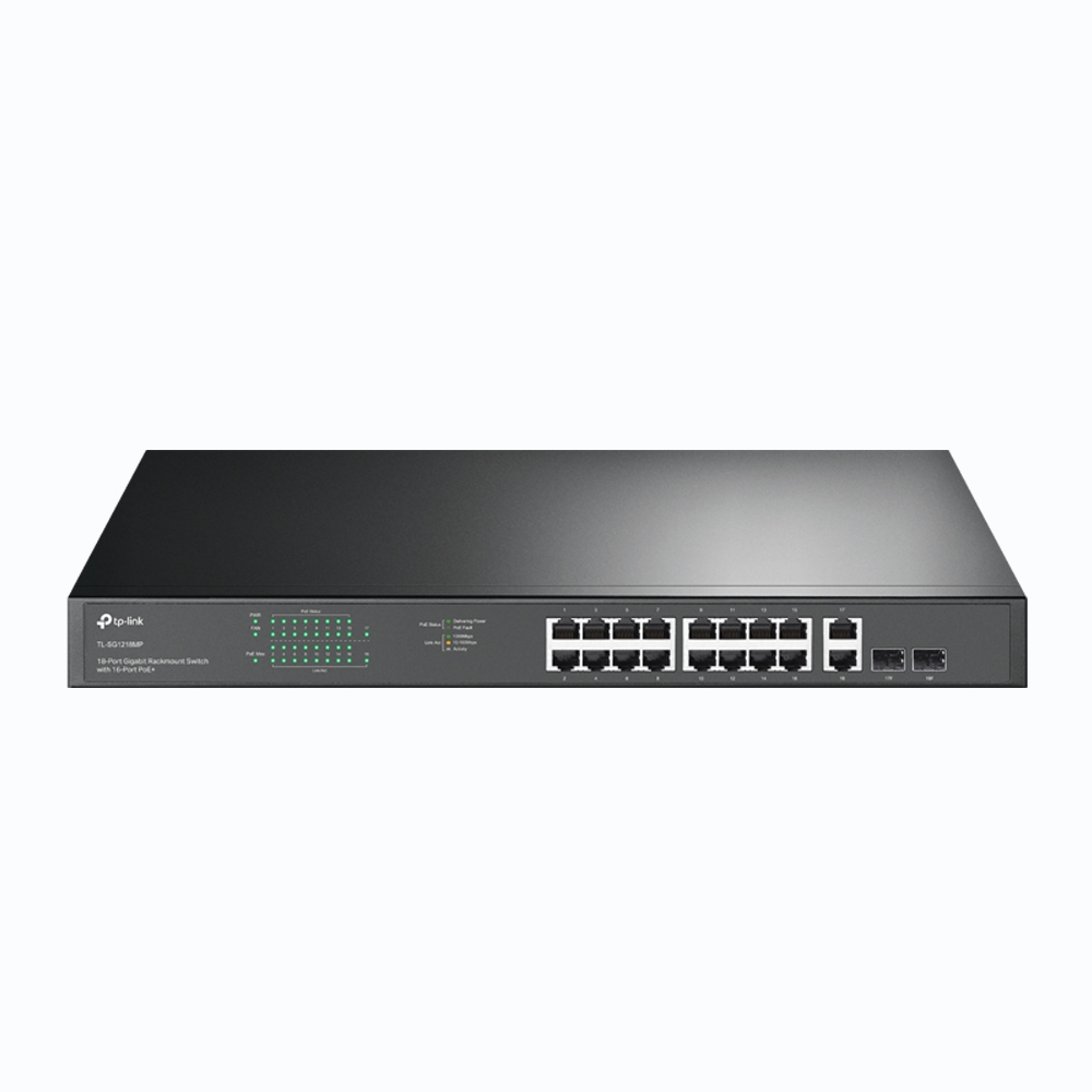 TP-LINK TL-SG1218MP switch Fast Ethernet (10/100) Negro Energía sobre Ethernet (PoE)
