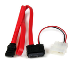 StarTech.com 36in Slimline SATA to SATA with LP4 Power Cable Adapter SLSATAF36