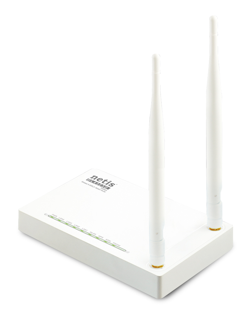 Netis System DL4323D Single-band (2.4 GHz) Fast Ethernet White wireless router