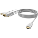 Vision TC 2MVGAHDMI video cable adapter 2 m HDMI Typ A (Standard) VGA (D-Sub) + 3.5mm + USB A Weiß