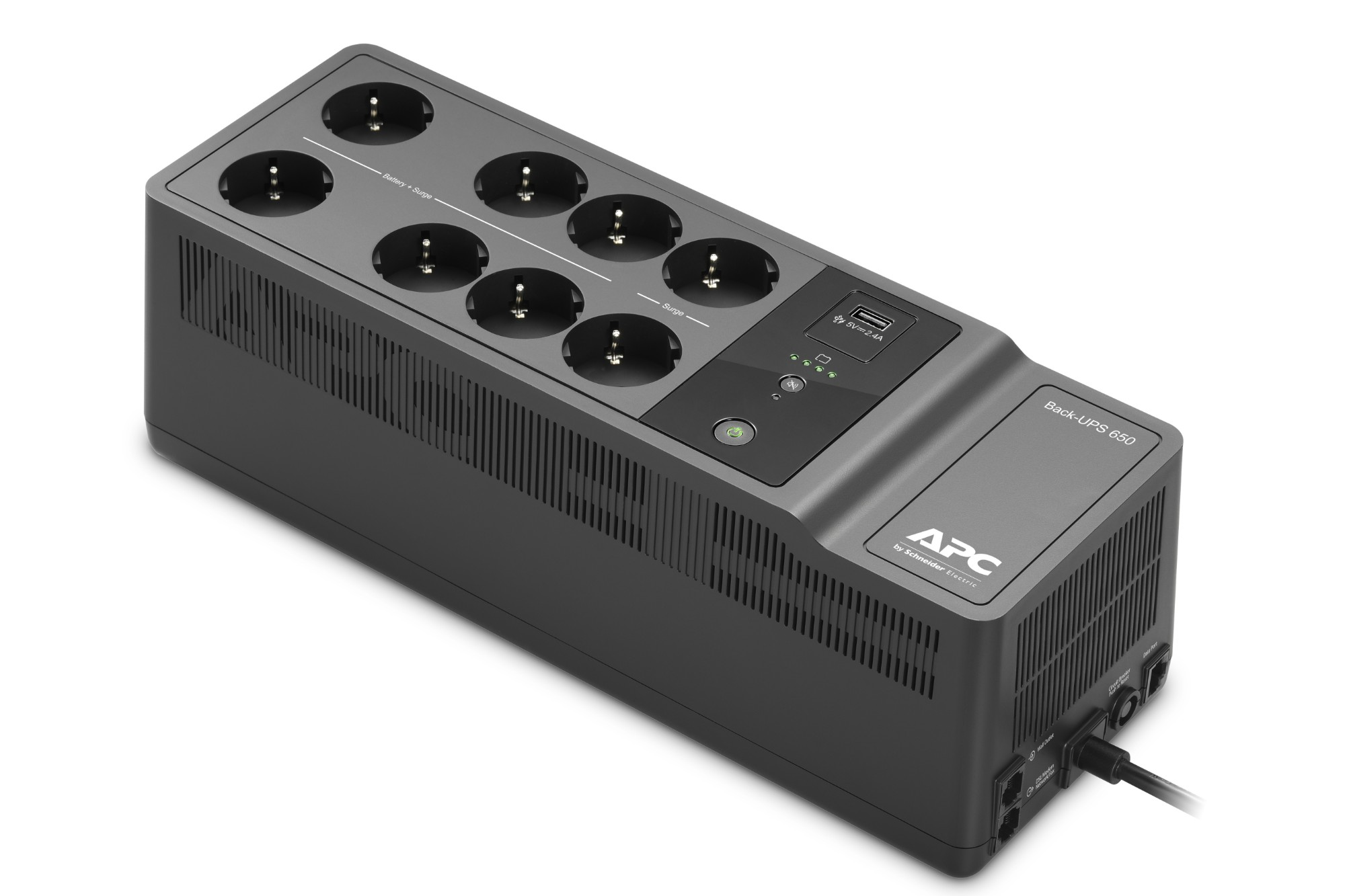 APC Back-UPS 650VA 230V 1 USB charging port - (Offline-) USV Standby (Offline) 0.65 kVA 400 W 8 AC outlet(s)