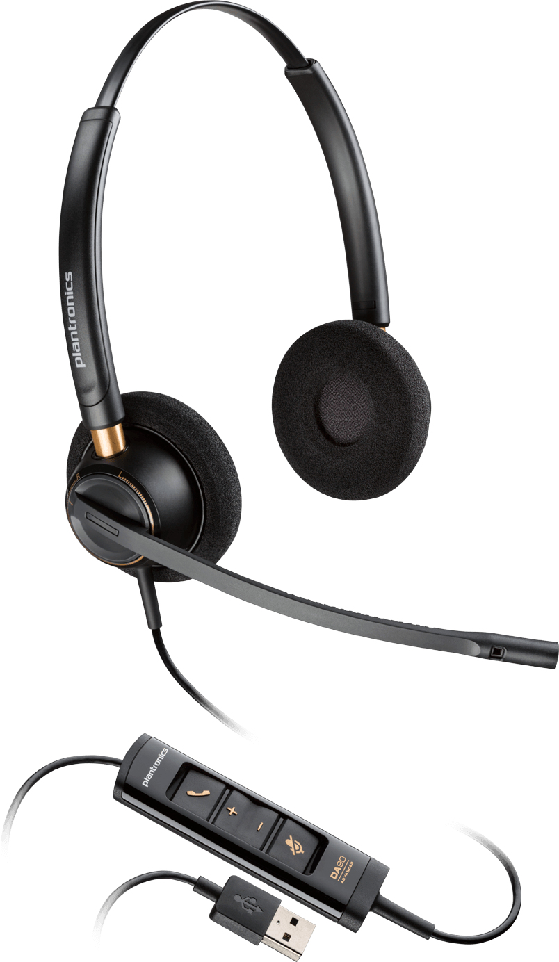 Plantronics EncorePro HW525 Binaural Head-band Black headset