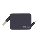 PNY USB - Lightning USB A Lightning Black mobile phone cable